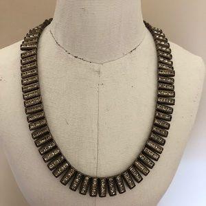VINTAGE  Rhinestone Sterling Necklace Choker